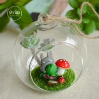 Totoro Terrarium hanging glass decoration