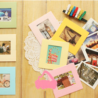 Frame Foto Gantung Mini Warna-Warni Set