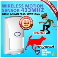 harga Alarm Sensor Gerak Motion PIR Wireless Pet Immune Technology 433 Mhz Tokopedia.com