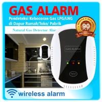 Wireless Gas Detector 433 Mhz Alarm Pedeteksi Kebocoran Gas LPG LNG CO