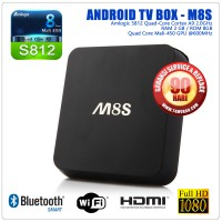 Android TV Box M8S S812 QuadCore RAM 2G ROM 8G Dual Band Upgrade MXV