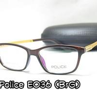 Frame Kacamata - Police E036 - Baca Minus - Pria Cowo Wanita Cewe