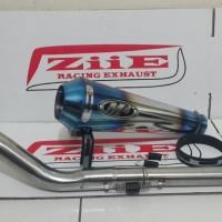 Knalpot M4 HALF BLUE FULL SYSTEM YZF R15