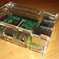 Case Acrylic Raspberry Pi 3 B, 2 B, 1 B+ Murah, Polos, Tanpa Engraving