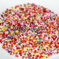 spikel kue, sprinkle rainbow ball, hiasan taburan cake cookies