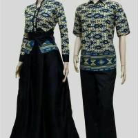 harga baju batik sarimbit couple gamis modern Tokopedia.com