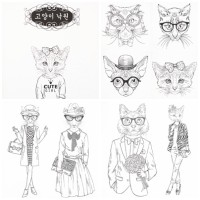 Jual Korean Fashionable Cat Coloring Book Kota Bogor Zima Unik Tokopedia