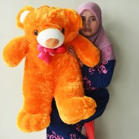 Jual Boneka Teddy Bear Besar Pita Gold SNI Uk.85cm Murah