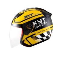 harga Helm KYT DJMaru Motif Seri GP DJ Maru Half Face Black Yellow Tokopedia.com