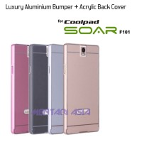 Luxury Aluminium Bumper + ACRYLIC Back Cover for Coolpad SOAR F101