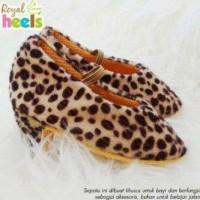 aepatu Prewalker branded impor - baby heels Leopard sz 3 6 9 month
