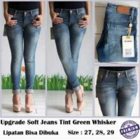 Celana Jeans Upgrade Premium Import Tint Green Whiskar