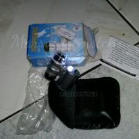 Jual Mini LED & UV Pocket Loupe 60x 30x Microscope Loupe Magnifier teropong Murah