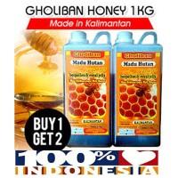 BUY 1+1 FREE Madu Hutan Kalimantan Gholiban Plus Bee Pollen Dan Royal