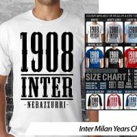 Inter Milan Years ~ Tshirt/Kaos/Raglan/Anak Oceanseven
