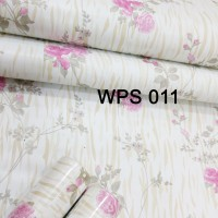 WALLPAPER STICKER 45CMX5M-WPS011-PINK GOLD MOTIF