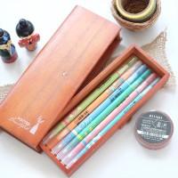 Plant Wooden Pencil Case / Tempat Pensil / Tempat Pulpen