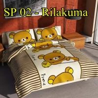 Jual Sprei Rilakuma Boneka Jepang CVC Felis Uk 120x200 - SP 02 Murah