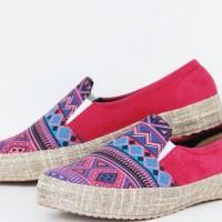 Sepatu Wanita / Sepatu Wanita Terbaru Motif Etnik : LAZARA LSO 16 PINK