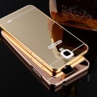 Samsung galaxy Note 3 neo premium Mirror Metal Bumper Back Cover Case