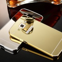 Samsung galaxy core prime premium Mirror Metal Bumper Back Cover Case