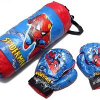 Jual Samsak dan Sepasang Sarung Tinju Anak Spiderman Murah