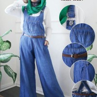 Overall Celana Kulot Bahan Jeans Lembut W187
