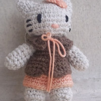 gantungan kunci boneka amigurumi hello kitty