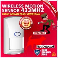 Alarm Sensor Gerak-Motion PIR-Wireless Keamanan Rumah