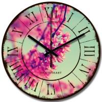 Jam Dinding Vintage Kayu Unik dan Artistik - NYA160112 - Spring