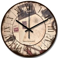 Jam Dinding Vintage Kayu Unik dan Artistik - NYA160101 - AirMail