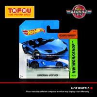 Lamborghini Aventador J Blue - HW Workshop - Hot Wheels Short Card - M