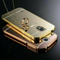Galaxy S5 Aluminum Metal Bumper Mirror Plating Hard Back Case