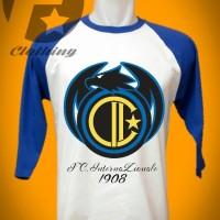 Kaos Raglan Gambar logo bola Inter Milan