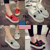 Sepatu Kets Platform Wanita Tinggi 3CM Baymax 4 Warna