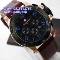 SWISS ARMY Chronograp Leather (RGBLU)