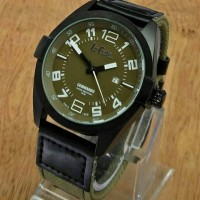 Jam Tangan Lee Cooper Commando Tanggal LC 89F C Kanvas Army