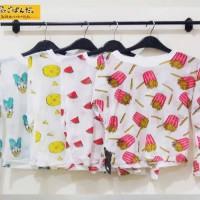 kaos tangan panjang korea motif print fashion tees tumblr pakaian sale