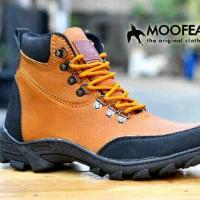 Sepatu Boot Ori Leather PU Moofeat Ori Tan Hitam