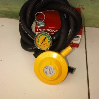 harga Regulator Gas PENSONIC LPG 2 Manometer Selang Gas BRIDGESTONE + Clamp Tokopedia.com