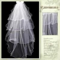 Jual veil gaun pengantin wedding dress slayer import tile 4 layer mutiara Murah