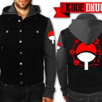 Naruto - Jaket/ Jacket Hoodie Denim Clan Uchiha Sasuke Sharingan Anime