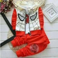 Setelan Baju Anak Laki Set Spider Kid Red 3 In 1