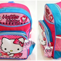 Jual Tas Hello Kitty sekolah anak perempuan motif karakter ransel pink tk Murah