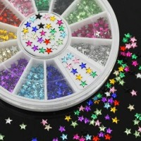 DIY Nail art decoration 3D star / 3D dekorasi stiker kuku bintang