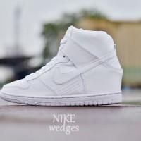 Sepatu Nike Wedges High Women Full White