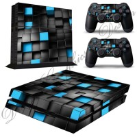 Abstract Sticker Skin For PS4 Console + 2 PS4 Controller