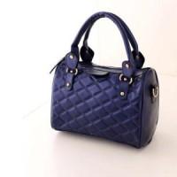 tas bahu selempang multifungsi handbags biru navy tua wanita kulit mal