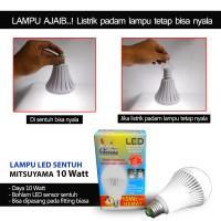 harga Bohlam Lampu LED MITSUYAMA Sensor SENTUH Darurat 10 Watt Emergency 10W Tokopedia.com