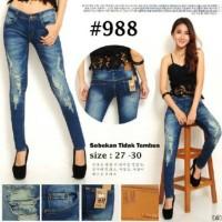 celana ripped jeans H&M 988 sobekan tidak tembus